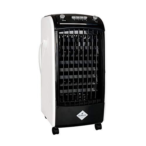 eldom Enfriador Portátil de Aire, Climatizador Evaporativo Columbiavac KC100, 3 Velocidades de Ventilador, Oscilación y Tanque de Agua de 2 litros para el Hogar o la Oficina,