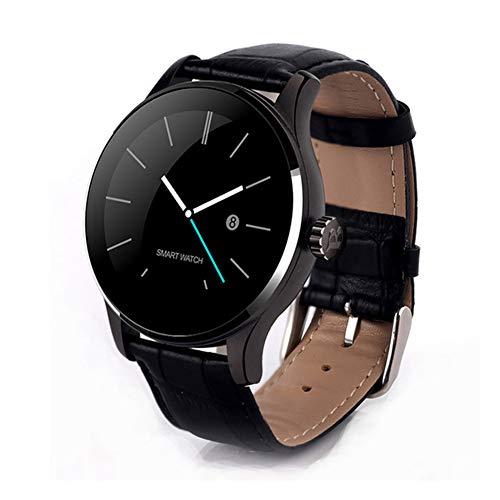 LXZ K88H Multifunktions-Smartwatch 1,22 Zoll IPS-Rundsieb Unterstützt Herzfrequenzmonitor Bluetooth Fitness Wasserdichten Multi-Sport-Smartwatch,A