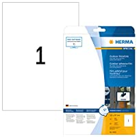 Herma 9500210x 297mm Weather ProofカラーレーザーFilm長方形ラベル–マットホワイト( 10ラベル、あたり1シート)