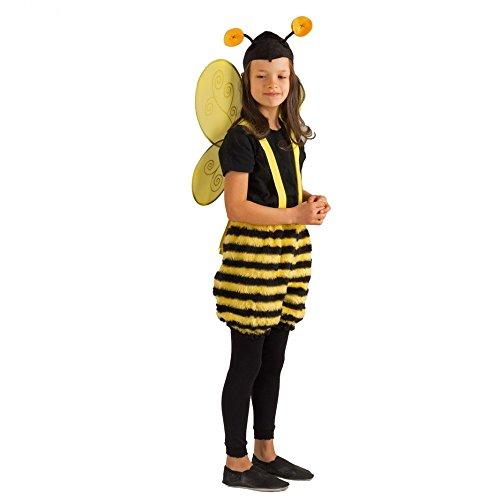 Krause & Sohn Kinderkostüm Honigbiene Summi Hose Mütze Fasching Biene Tierkostüm Garten (116/128)