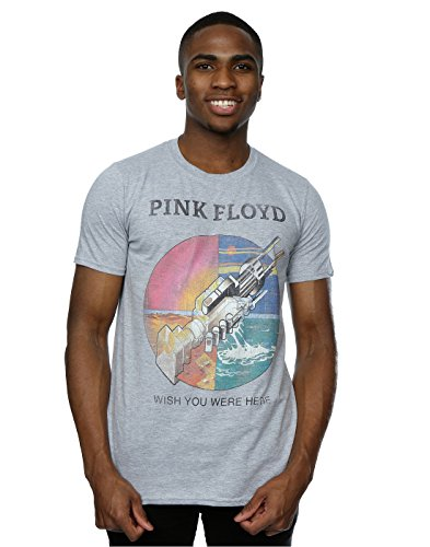Pink Floyd Herren Wish You were Here T-Shirt Large Heather Grey