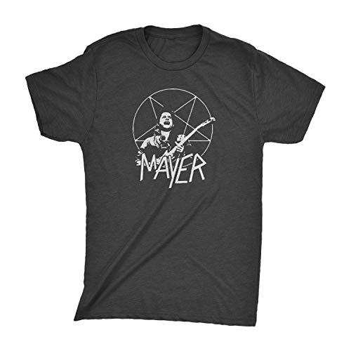 John Mayer Slayer Tri-Blend - Parody lot T-Shirt Dead and Company Trio Summer Tour (Vintage Black, Large)