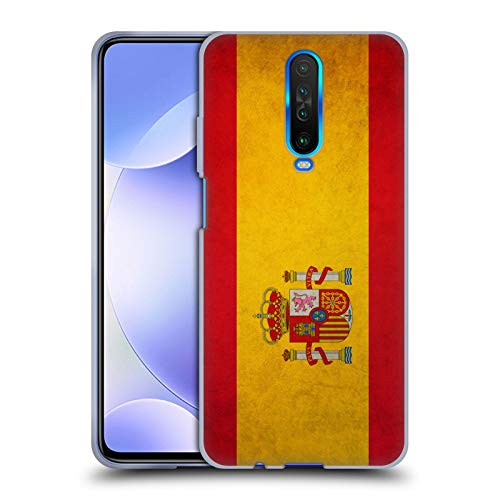 Head Case Designs Español De España Banderas Vintage Carcasa de Gel de Silicona Compatible con Xiaomi Redmi K30 / 5G