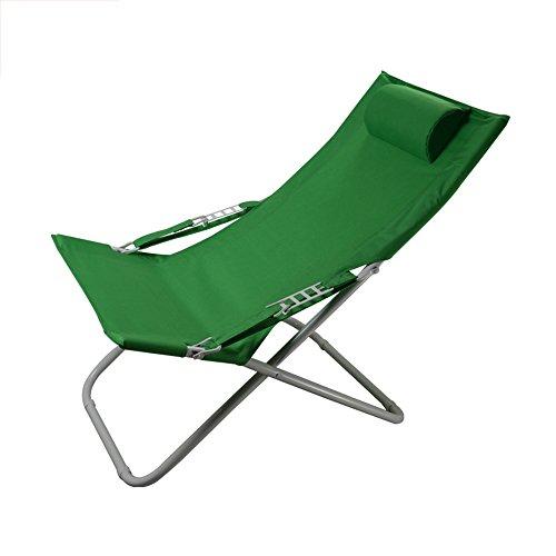 LVZAIXI Fest Opvouwbare Sun Lounger Ligstoel Ligstoel Tuin Bed Steel Cover Groen