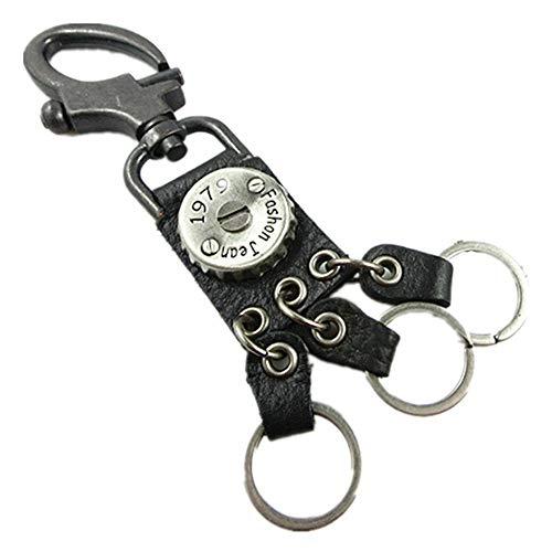 Lwieui Schlüsselanhänger Persönlichkeit Hip Hop Schlüsselanhänger Kreative Kronkorken Key Anhänger Tide Male Schlüsselanhänger Tasche Kleine Anhänger Schlüsselanhänger Schlüsselringe (Farbe : Black)