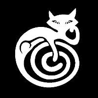 防水 12.6センチメートル* 15.4センチメートル漫画猫ファッションカースタイリング車のステッカービニールブラック/シルバーS3-5775 (Color Name : Silver)