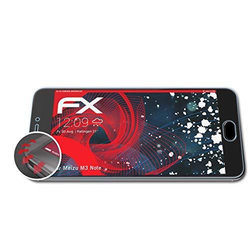 atFolix Schutzfolie kompatibel mit Meizu M3 Note Folie, entspiegelnde & Flexible FX Bildschirmschutzfolie (3X)