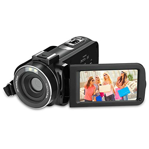 Video Kamera Camcorder, RegeMoudal Video Recorder HD 1080P 24 MP 16X Leistungsstarker Digital Zoom Camcorder 3,0 Zoll LCD Bildschirm mit 270 Grad Drehung