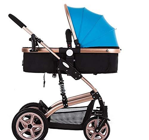 MAMINGBO Cochecito Cochecito for bebé Niño con arnés de seguridad de 5 puntos Silla de paseo Cubierta de lluvia hacia atrás o hacia adelante Cochecito de bebé plegable for recién nacidos y niños peque