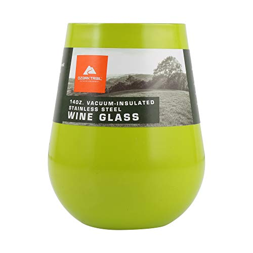 Ozark Trail 14 oz Stainless Steel Wine Tumbler Lime Green