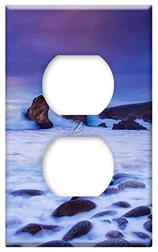 Switch Plate Outlet Cover - California Sunset Dusk Sky Clouds Beautiful Rocks