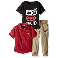 Spursgrl Wrangler Boys Short Sleeve Red Blue Plaid Shirt