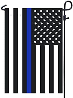 Best Homissor Thin Blue Line Police Garden Flag- American Double Sided Yard Flag Banner Patriotic Outdoor Lawn Decoration 12.5 X 18.5 Inch Review