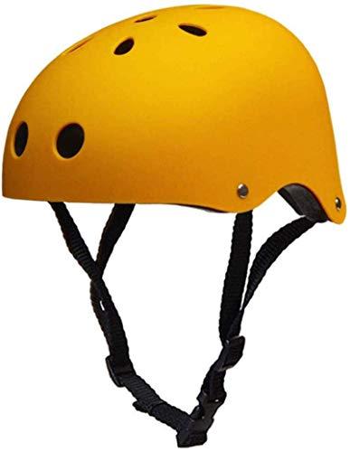 LHY Fahrradhelm für Kinder 3-13 Jahre, Muti-Sport Schutzhelm für Winter-Jungen-Mädchen-Skateboard BMX Roller Scooter Inline-Skating Skifahren Helme CE Certified Schutzhelm (51-60cm) S-L,Gelb,M