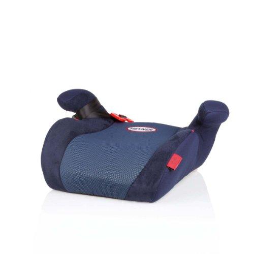 HEYNER® Autokindersitz Sitzerhöhung 15-36 kg Kinder-Auto-Sitzerhöhung extra schmal, für Sportsitze geeignet, Sitzerhöhung Kindersitz Farbe Cosmic Blue