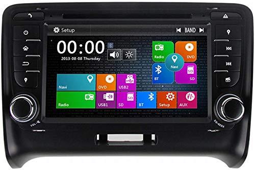 MIVPD Coche Estéreo GPS Navegación Compatible con Audi TT 2006-2015 Auto Audio Player Android Head Unit Sat Nav MP5 Player FM Radio Receptor SWC Pantalla Táctil,4 Core WiFi 1+16GB