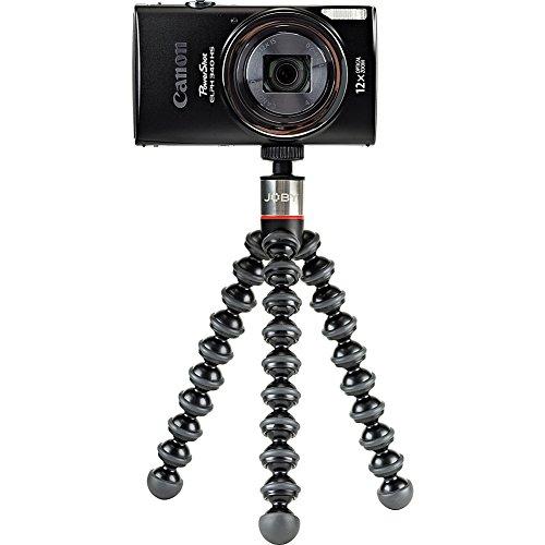 JOBY GorillaPod 325, Mini Treppiede Flessibile con Testa a Sfera Integrata per Fotocamere Compatte e 360°, Portata Max 325 g, JB01505-BWW