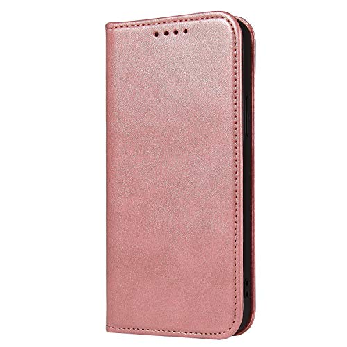 H-basics Funda para Samsung Galaxy S10 Plus, funda para Samsung Galaxy S10 Plus, en color rosa, tarjetero, función atril y cierre magnético invisible.