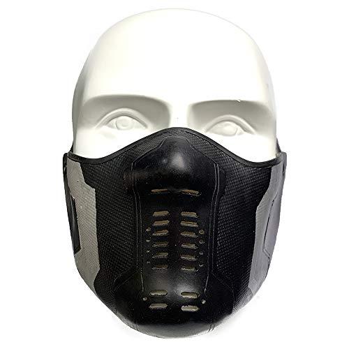 Winter Soldier Latex Mask Bucky Barnes James Buchanan Cosplay Costume Accessory Black