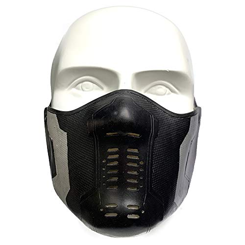Winter Soldier Latex Mask Bucky Barnes James Buchanan Cosplay Costume Accessory Black