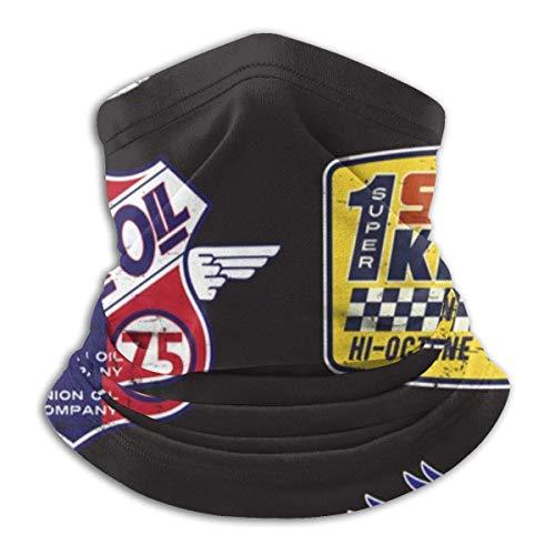 hon-ey WE Vintage Motoröl Zeichen und Label Set Stirnband Gesichtsmaske Bandana Kopf wickeln Schal Nackenwärmer Kopfbedeckung Sturmhaube für den Sport
