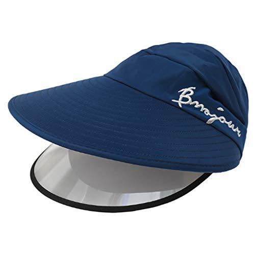 XuHang - Sombrero de sol con visera doble para mujer con protección...