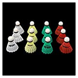 LJQSS Life and fitness products are stable and comfortab Colorful Plastic Badminton Shuttlecocks Balls Sport Training Game Badminton Accessories & Equipment (Size : 6Pcs)