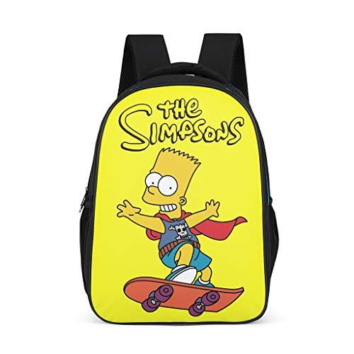 Kleinkind Kinder Schulrucksack The Simpsons Skateboarding Junge Kinderrucksack Buch Rucksack Reise Backpack Daypacks für Kinder Junge und Mädchens 3-12 Bright Gray OneSize
