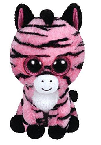 TY 36147 36147-Zoey-Zebra mit Glitzeraugen, Plüschtier, 15 cm, pink