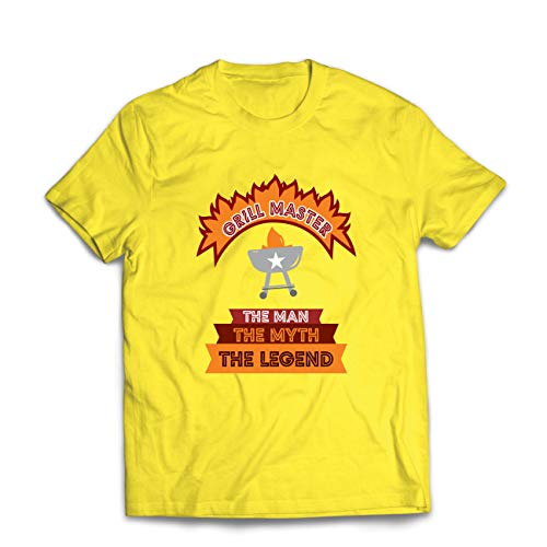 lepni.me Camisetas Hombre Maestro de la Parrilla, Chef de la Barbacoa, Divertidas Ideas de Regalos para barbacoas.