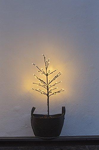 Sirius Outdoor LED Baum Noah 80 LED warmweiß - für den Außenberich - Höhe 110 cm braun - Zuleitung 8 m