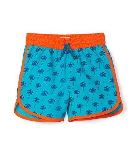 Hatley Jungen Swim Shorts Badeshorts, Grün (Tropical Palms 300), 3 Jahre