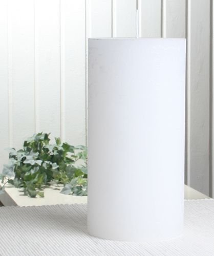 Rustik-Stumpenkerze, 20 x 10 cm Ø, weiß