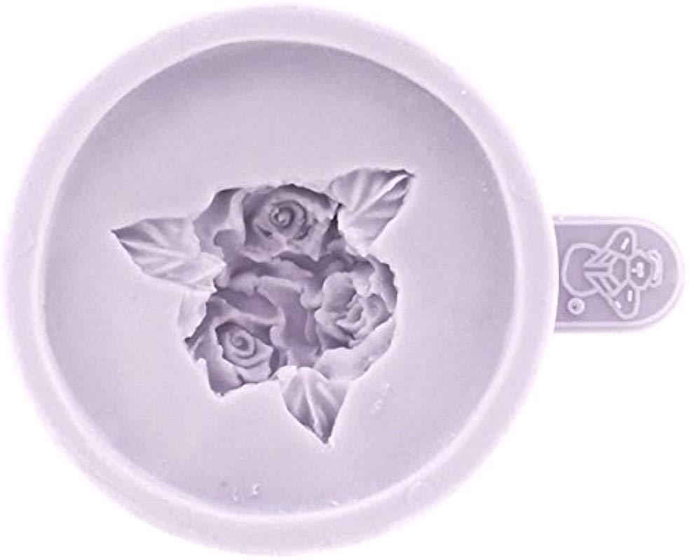 Cup Cake Top Three Rosebuds Mold By Karen Davies