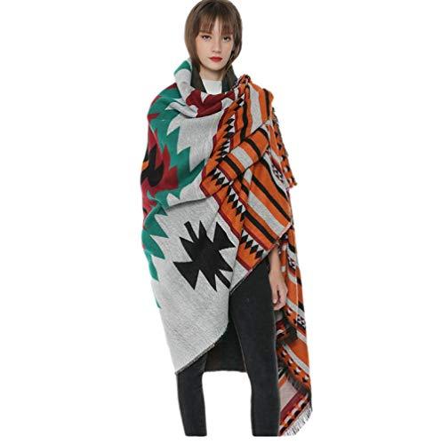Damessjaal, kasjmier-imitatie, voor herfst en winter, dik, warm
