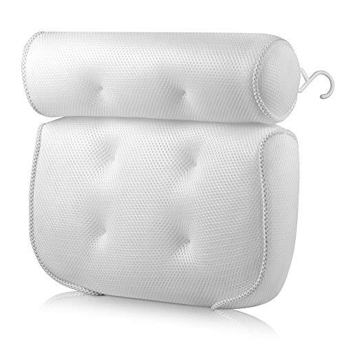 Moter Badewanne Kissen Bath Spa Kissen, rutschfeste 6 große Saugnäpfe kann perfekt unterstützen den Kopf, Hals, Rücken und Schultern