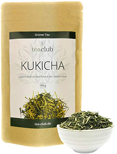 Kukicha Karigane Grüner Tee Japan Lose 100g, Japanischer Gyokuro Kukicha Grüntee Süßlich Umami, TeaClub Green Tea