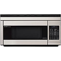 powerful Sharp R1874T 850W Super Range Convection Microwave 1.1cc feet, Stainless Steel