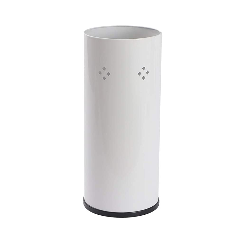 拡声器加速度スケッチ傘立ての金属、ホームオフィスの雨のための円柱傘のバケツの自由な地位
