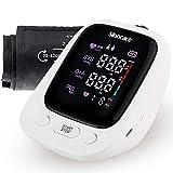 Oberarm Blutdruckmessgerät, Sinocare Digital Vollautomatisch Blutdruckmessgerät und Pulsmessung mit Große Manschette und Sprachfunktion