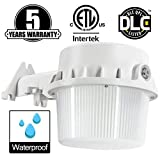 LED Yard Light,35W(Photocell Included),LED Dusk to Dawn(250W Equiv.),5000K Daylight Floodlight, DLC & ETL-Listed Yard Light for Area Lighting, Wet Location Available, White Housing 50K1PK