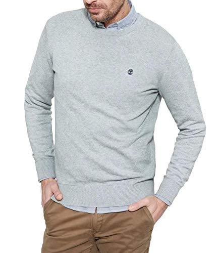Timberland CA1L4P suéter Deportivo, Gris (Medium Grey Heather), XL para Hombre