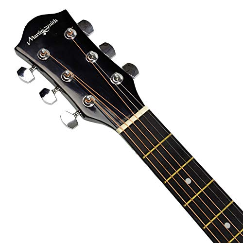 Martin Smith W-101-N-PK Acoustic Guitar with Guitar Stand Guitar Tuner Guitar Bag Guitar Strap Guitar Plectrums and Guitar Strings Natural