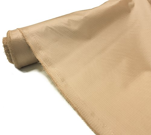 Tela impermeable Ripstop de 107,7 g para tienda de campaña al aire libre o cometa. De A-Express., beige, 2 Meters (200cm x 150cm)