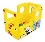 Bestway 93506 - Piscina de Bolas Hinchable Fisher Price Autobús Escolar 137x96x96 cm Amarillo