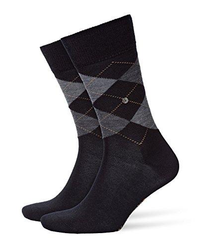 BURLINGTON Herren Socken Edinburgh - Schurwollmischung, 1 Paar, Schwarz (Black 3000), Größe: 46-50