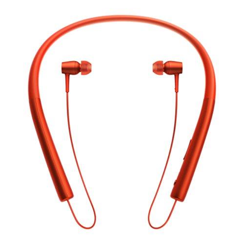 Sony MDR-EX750BT kabelloser High Resolution In-Ohr Kopfhörer (Bluetooth, Head-Set Funktion) zinnoberrot