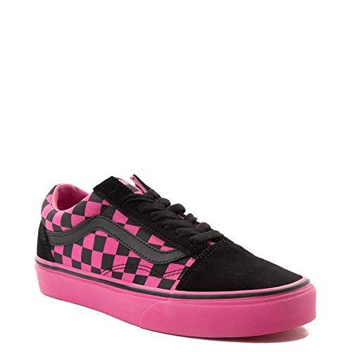 Vans Unisex Authentic Skate Shoe Sneaker (Mens 5.5/Womens 7, Old Skool Chex Pink/Black 7366)