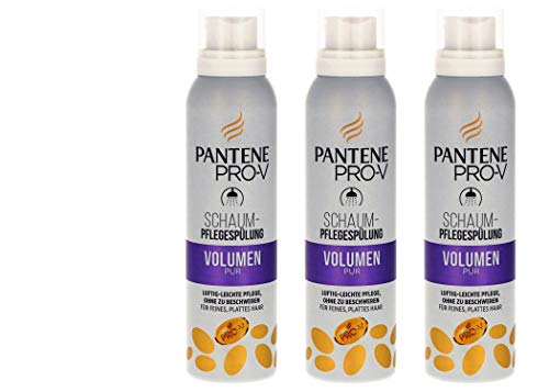 Pantene Pro-V Schaum-Pflegespülung Volumen Pur für Feines Haar,140 ml (3er Pack)