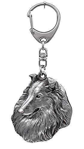 Rough Collie, Langhaarcollie, Hund, Silber, Schmuckanhänger, Anhänger, Schlüsselanhänger, Limitierte Edition, Art Dog